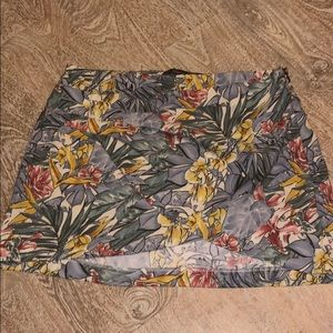 Zara Trafaluc collection skirt flower medium